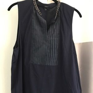 J Crew navy shell with bling.  XL VGUC